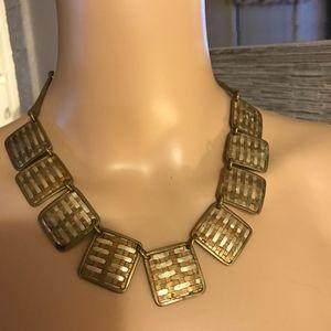 Vintage copper brass metal necklace choker